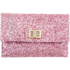 Pre-owned Anya Hindmarch Valorie Glitter Clutch ($195) ❤ liked on Polyvore featuring bags, handbags, clutches, pink, glitter handbag, pink glitter purse, pink purse, handbag purse and anya hindmarch purse