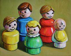 SALE Custom Fisher Price Little People Family Portrait by JenHaley
