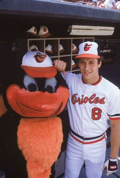 Classic Photos of the Baltimore #Orioles: Cal Ripken Jr.  The Oriole Bird in 1983