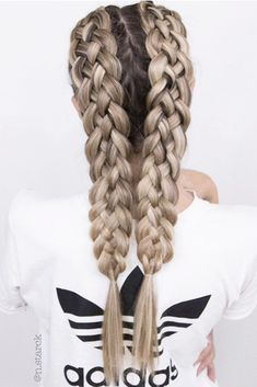 24 Braided Hairstyles For Long Hair To Your Exceptional Taste : There are so many hairstyles for long hair that your head starts to spin when you try to choose one for today. The choice will be easier for you with us. French Braid Hairstyles, Box Braids Hairstyles, Pretty Hairstyles, Hairdos, Hairstyle Braid, French Braids, School Hairstyles, Hairstyles Haircuts, Cool Braids