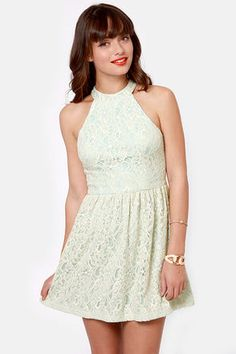 LuLu's Ark & Co. Ice Queen Blue and Cream Lace Dress.  $72.00