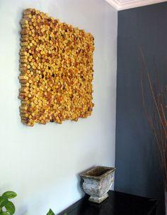 wine cork wall design