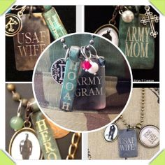 So many cute personalized charms for military wives and mothers in the Initial Outfitters catalog! Www.initialoutfitters.net/MandyLR