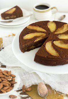 Almond Apple Cake #glutenfree #grainfree #paleo