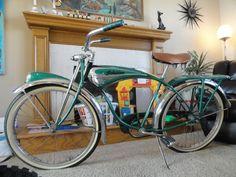 1955 Schwinn BF Goodrich green phantom with original paint...