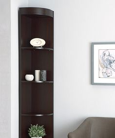 Look at this Furniture of America Cappuccino Siyah Corner Display Case on #zulily today!