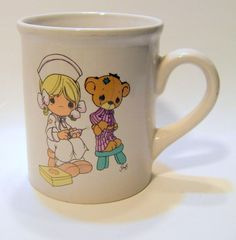 Nurse Vintage Enesco Precious Moments Mug Teddy Bear Patient RN LPN Cup Student