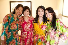 Real life Sample 6 - Bridesmaids Robes made From C2 Fabric Pattern