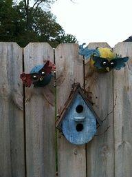 little blue bird house
