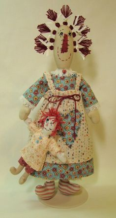 Tess is an official member of the Tiny Rag Doll Collection from Terese Cato.