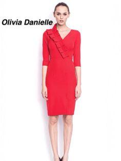 Dress €199 ❤️❤️ Stylish Dresses, Dresses For Work, Red, Design, Fashion, Moda, Elegant Dresses, Fashion Styles