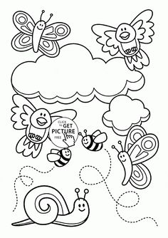 baby animal and spring coloring page for kids seasons coloring pages printables free wuppsy