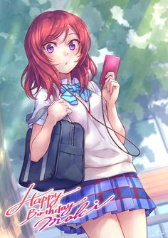 Anime Love, Beautiful Anime Girl, Anime School Girl, Anime Art Girl, Cute Girls, Cool Girl, Love Live School Idol Project, Maki Nishikino, Art Manga