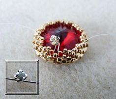 Schema Boucles d'oreilles en perles Arcos® et perles Swarovski par Puca®