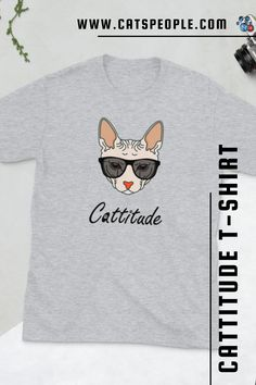 You've now found the staple t-shirt of your wardrobe. It's made of 100% ring-spun cotton, soft, comfy and with a cattitude design that is sure to satisfy every sphynx cat lover out there. The double stitching on the neckline and sleeves add more durability to what is sure to be a favorite if you're a cat parent with a cattitude! A great t-shirt for cat moms and crazy cat ladies who arent' afraid to show it! #catlovertshirt #catshirt #catmomtshirt #catdadtshirt #cattitudetshirt #catladytshirt Crazy Cat Lady, Crazy Cats, Sphynx Cat, Cat Dad, Great T Shirts, Cat Shirts, Spun Cotton, Cat Lovers, Stitching