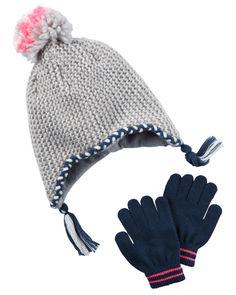 Kid Girl Metallic Hat & Glove Set   Carters.com