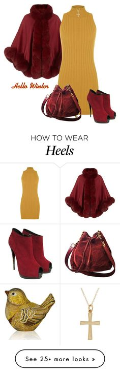 """Hello Winter."" by cardigurl on Polyvore featuring Harrods, Judith Leiber, WearAll, Giuseppe Zanotti and Chanel"