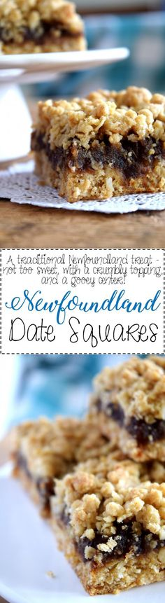 Jump to Recipe Print RecipeNewfoundland Date Squares are a traditional Newfoundland treat! Slightly sweet, with a crumbly topping, and a soft, chewy center, perfect for an afternoon snack with a cup of hot tea! Date Squares and Newfoundland go hand… Lord Byron, Cookie Recipes, Snack Recipes, Dessert Recipes, Newfoundland Recipes, Biscuits, Date Squares, Healthy Afternoon Snacks, Canadian Food