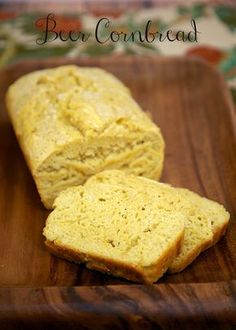 Beer Cornbread - quick beer bread that is great with soups and stews! Made with flour, cornmeal, baking powder, honey and beer.