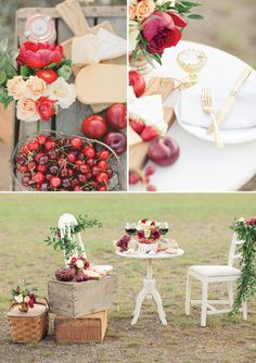 Styled Lakeside Engagement by Alisa Lewis Florals by @Erica Cerulo Schmautz  Photo by Megan Robinson