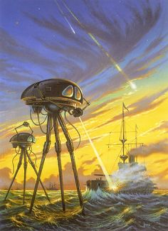 David Hardy - War of the Worlds by myriac, via Flickr   Click through for a larger image