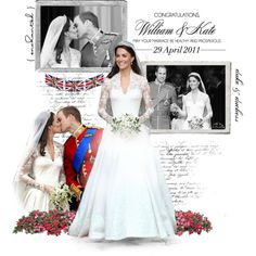 Royal Wedding♥ by maddie-madhatt3r on Polyvore featuring Polaroid, CO, prince william, love, wedding, fairytale, royalty, great britain, kate middleton and london