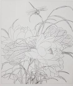 1번째 이미지 Silk Painting, Painting & Drawing, Gold Leaf Art, Lotus Art, Tibetan Art, Basic Drawing, Flower Artwork, Silk Art, Quilling Designs