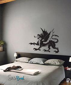 Vinyl Wall Decal Sticker Dragon #494 | Stickerbrand wall art decals, wall graphics and wall murals.