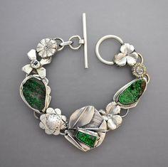 Green Garnet Drusy Bracelet by Temi on Etsy