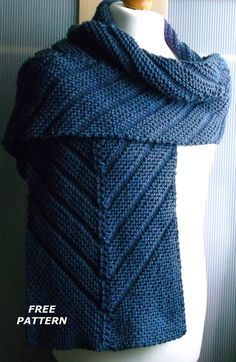 Chevee Scarf By Brian Smith - Free Knitted Pattern - (ravelry)