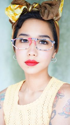 A personal favorite from my Etsy shop https://www.etsy.com/listing/291692637/vintage-eyeglass-1990s-multi-color