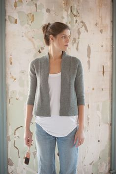 LOVE this. Cardigan pattern by Quince & Co.