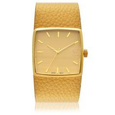 Relogio Feminino Memphis Caixa Metal Dourado Pulseira em Couro Dourado G c2ae354312