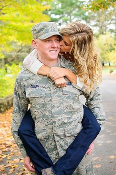Military; engagement; Air Force; military couples Always Photographic…