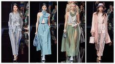 Emporio Armani Ready to Wear – Spring 2020 - Glam News Magazine Emporio Armani, Giorgio Armani, Ready To Wear, Kimono Top, Magazine, News, Spring, How To Wear, Women