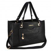 Sally Young Classic Handbag With Croco Pocket - Black Wholesale Scarves, Wholesale Handbags, Cheap Handbags, Cheap Fashion, Latest Fashion, Classic Handbags, Young Designers, Fashion Handbags, Sally