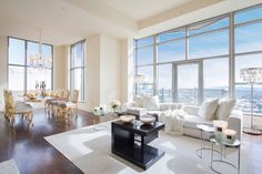"""This luxury penthouse is located in The Carlyle Residences, a distinguished full-service building in Los Angeles, California, USA. Recently sold, it was staged by Belgian interior designer Maxime Jacquet of Premier Stagers. Exlusive Home at the Carlyle Residences by Premier Stagers: """"This residence is located on the 21st floor, and was created by Premier Stagers' founders Summer Chápin and Hollywood Hunk Designer Maxime Jacquet. Guests enjoyed champ..."""