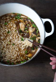 This easy homemade ramen comes together in just 15 minutes. A few simple ingredients create a rich mushroom broth that is incredibly flavorful.