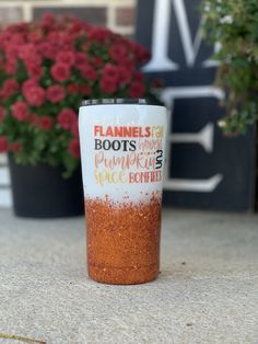 Excited to share this item from my shop: Fall Themed Glitter Tumbler - Pumpkin Spice Glitter Tumbler - Harvest Tumbler - Orange Ombre Glitter Tumbler Diy Tumblers, Personalized Tumblers, Custom Tumblers, Glitter Tumblers, Fall Craft Fairs, Fall Crafts, Resin Crafts, Vinyl Crafts, Vinyl Projects
