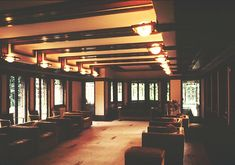 Interior of the Roby House by Frank Lloyd Wright, Chicago