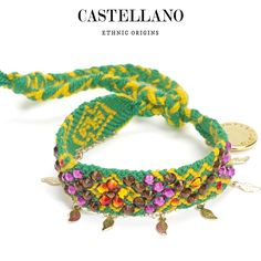 Handwoven with love and care by Wayuu artisans in La Guajira peninsula in northern Colombia. Each bracelet is one of a kind with energy and life from an ethnic culture which is proud to maintain its traditions.