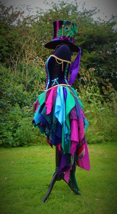 Full Mad Hattress Costume. Custom made fancy dress by Faerie In The Foxglove.