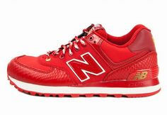 Joes New Balance 574 WL574SRE Year Snake Fire Red Golden Womens Shoes