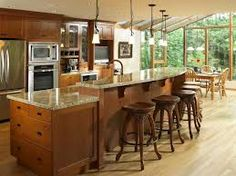 kitchen islands designs with seating - Google Search