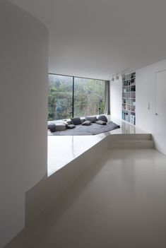 This comfy lounge area has been sunken into a built-up floor                                                                                                                                                                                 More