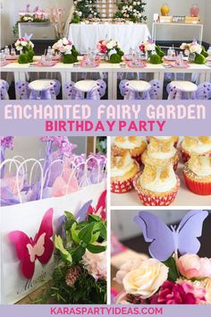 Enchanted Fairy Garden Birthdy Party via Kara's Party Ideas - KarasPartyIdeas.com