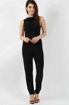 Slinky Sleeveless Black Jumpsuit