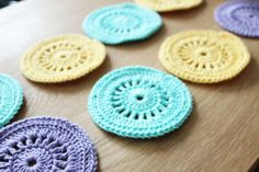 Crochet coasters, diff materials maybe? So many possibilities!