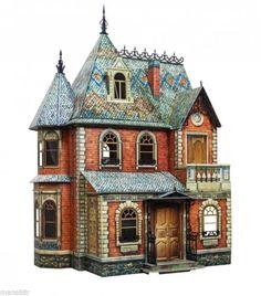 FULL SET Victorian Doll House Dollhouse Miniature Scale 1:12 Model Kit #1+#2+#3