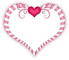 Pink and white heart